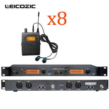 Leicozic BK-2050 Stage In-Ear Wireless Monitor System with 8 Receivers UHF Transmitter 150m In Ear Wireless Monitor dj equipment