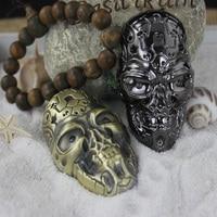 100pcs/lot Charge windproof lighter vintage carved skull mask eco-friendly usb cigarette lighter