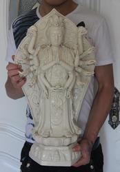 21 China Wit porselein achttien Handen Gewapende Avalokitesvara Kwan-Yin Guanyin