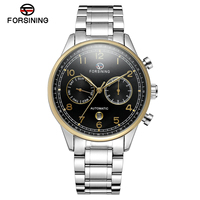 Forsining Herrenuhren Top marke Luxus Automatische Mechanische Uhr Männer Voller Stahl Business Sport Uhren Relogio Masculino-in Mechanische Uhren aus Uhren bei
