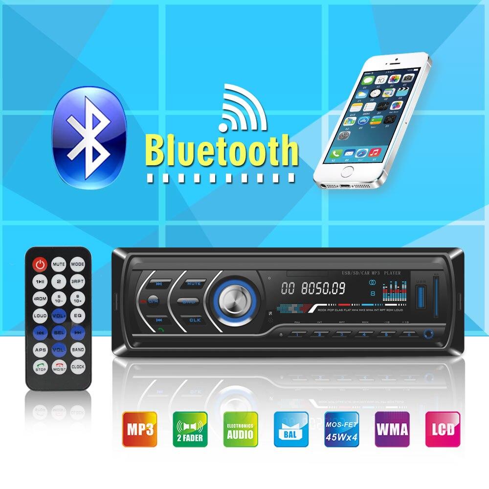 Bluetooth 12 v 1 DIN Voiture Radio Stéréo MP3 Lecteur Numérique FM Audio Musique USB AUX SD Auto Electronics Dans -Dash autoradio Universel