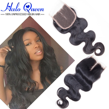 Fashion Stema Hair Company Best Brazilian Body Wave Closure 7a Unprocessed Brazilian Closure Natural Wave 3 Part Closure On Sale