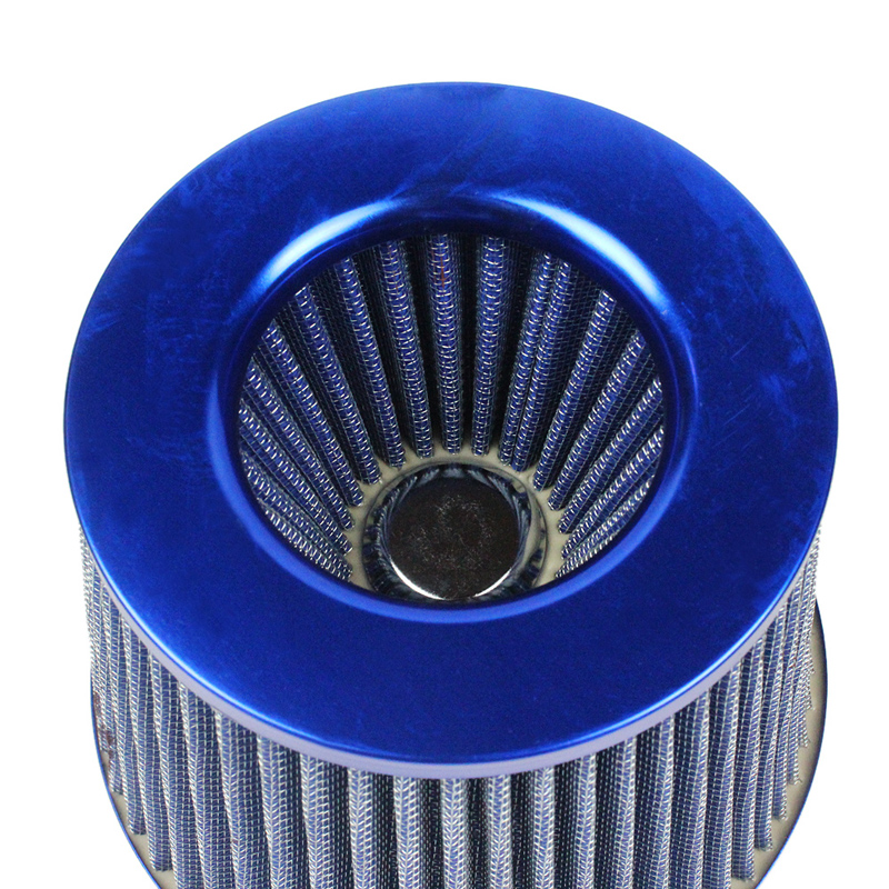 """For Nissan 76mm 3/"""" Racing High Flow Cold Air Intake Dry Bypass Valve Filter Blue"""