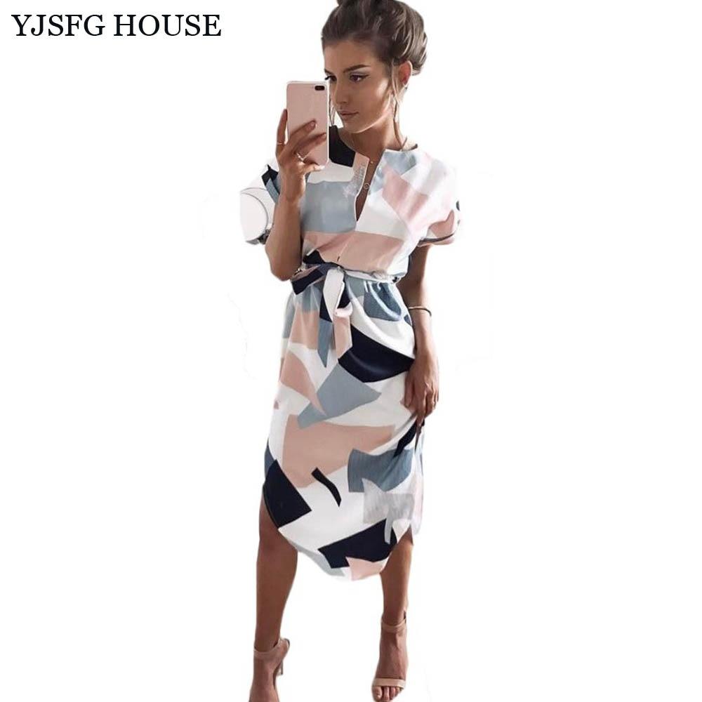 YJSFG HAUS Elegante Frauen Tunika Abendgesellschaft Kleider Sommer - Damenbekleidung - Foto 1