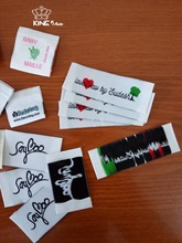 High quality customized woven labels / Brand embroidered patch/ paper hang tag / free shipping / PVC and rubber labels