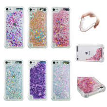 For Apple iPod Touch 5 / 6 case Back cover Bling Glitter Dynamic Quicksand Liquid Case for Apple iPod Touch 5 touch 6 cover все цены