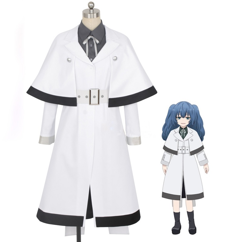 2018 New Anime Tokyo Ghoul:re Cosplay Costume Yonashi Saiko Outfits Uniforms Full Set ( Coat + Shirt + Tie + Belt + Dress )