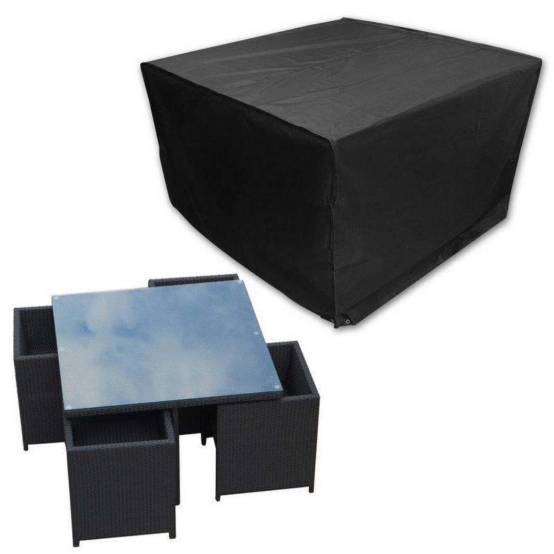 Miraculous Us 10 69 19 Off Waterproof Cube Set Cover Table Chair Shelter Garden Patio Furniture Rain Cover Black In Rain Covers From Home Garden On Download Free Architecture Designs Jebrpmadebymaigaardcom