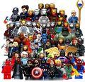 S cartões completo vingadores marvel super hero spider-man batman homem de ferro hulk building blocks set com 30 pcsset