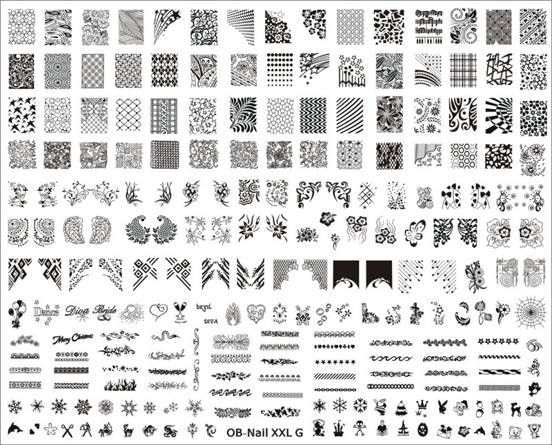 New Stamping Big size Template XXL size XXL-A