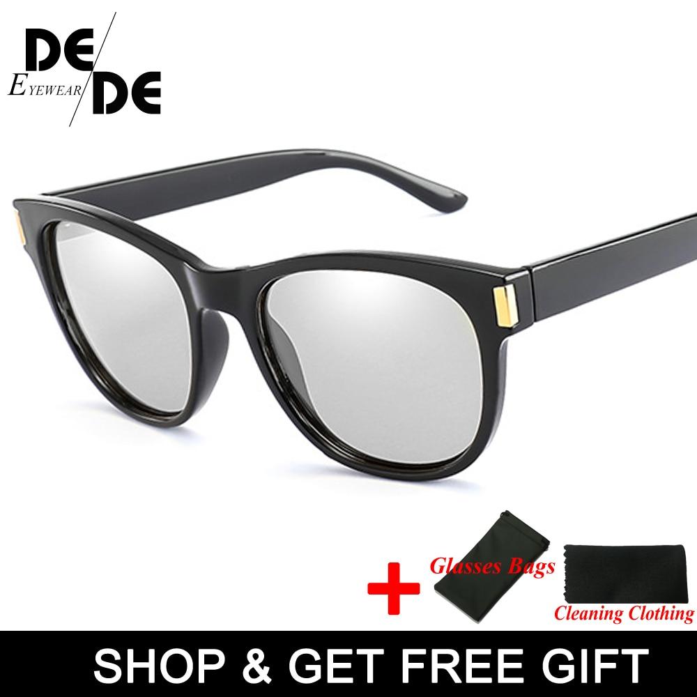 UV400 Anti Glare Mens Driving Photochromic Sunglasses Men Polarized Discoloration Driver Sun glasses Transition Lens Sunglasses in Men 39 s Sunglasses from Apparel Accessories