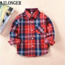 Ajlong/рубашки для мальчиков и девочек в британском стиле; Детские