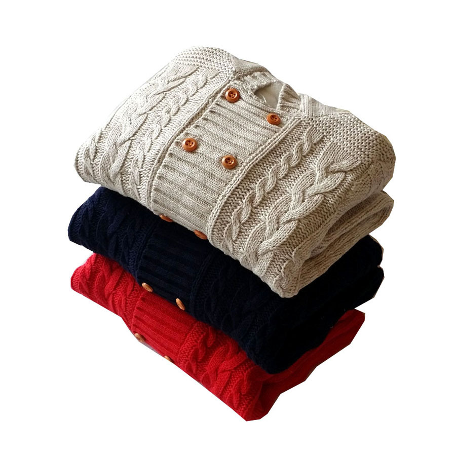 aeae40f9d64 Thick Warm Infant Baby Rompers Winter Clothes Newborn Baby Boy Girl Knitted  Sweater Jumpsuit Hooded Kid Toddler Outerwear-in Rompers from Mother   Kids  on ...