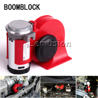 BOOMBLOCK Car Two Tone Snail Air Horn Speaker 12V 130db For Renault Megane 2 3 Duster Logan Honda Civic 2006 2011 Fit Accord