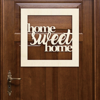 Home Sweet Home Door Hanger Wood Sign Door Wall Room Decoration Wooden Wall Art Housewarming New Home Gift Farmhouse Decor