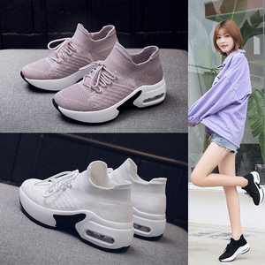 Image 5 - STQ 2020 秋の女性スニーカー身長の増加女性の靴 Chaussures ファムつるモカシン靴 20209