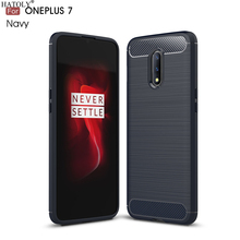 For Cover Oneplus 7 Case 5T 6T Business Style Soft Silicone Rubber TPU Phone for 5 6 6.41