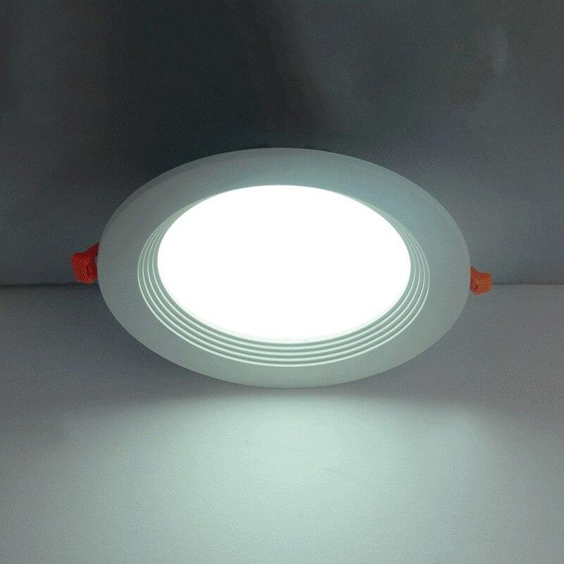 Новый Светильники потолочные светодиодные 12 Вт Мощность встраиваемые потолочные Панель Подпушка лампочки 20 шт./лот