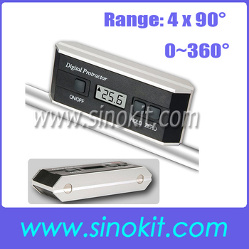 Digital Protractor Angle Finder Inclinometer 360 degree with Angle Sensor Technology Tilt + Magnetic V-Groove JY-90LC(A&C)