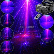 Mini 300mw Blue Red Laser 16 Patterns Projector Led Remote DJ Lighting Dance Xmas Disco Club Home Party Stage Light Show LB16