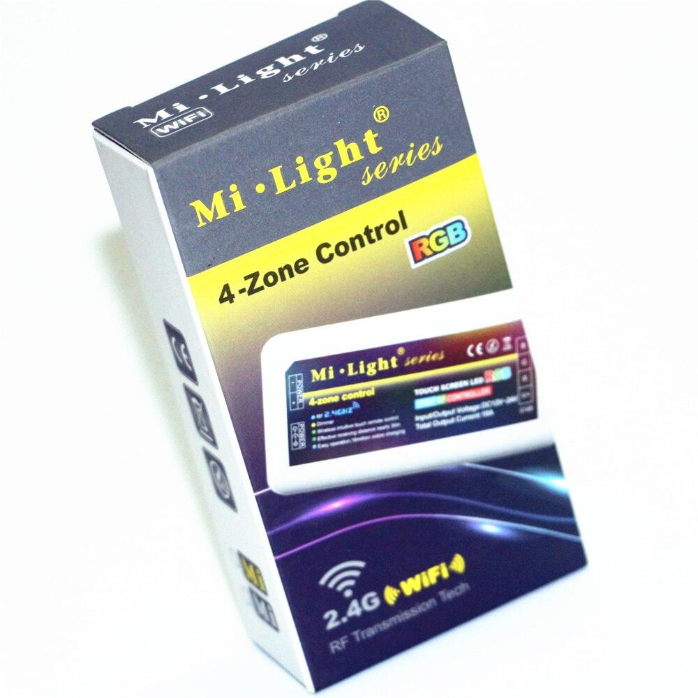 Mi licht dc12v 24v 2.4g draadloze rf rgb led afstandsbediening + 4 stks 3 manier Kanaals 4 Zones 18A Controller + 1 Stks 5 V WiFi Controller Doos - 5