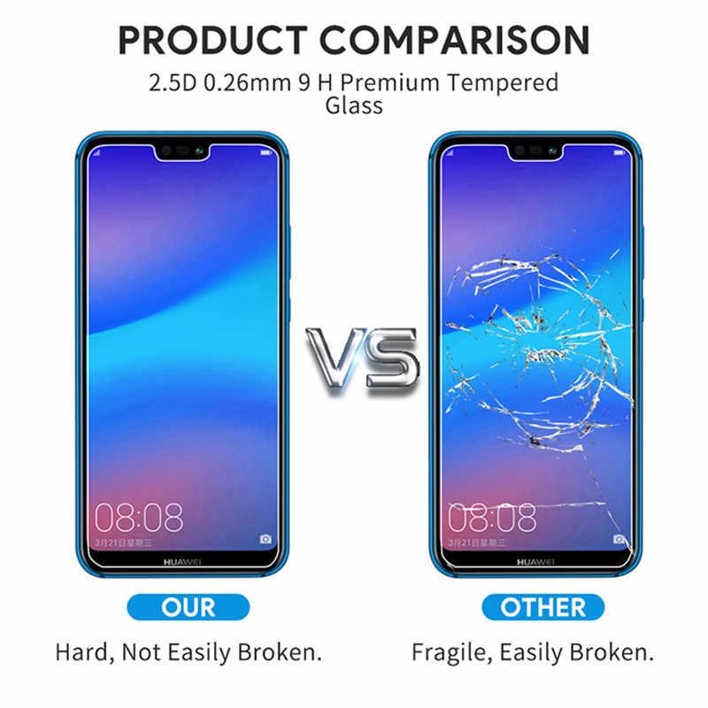 Pelindung Kaca Film untuk Huawei P30 Lite P20 Lite P10 P Smart 2019 Tempered Glass Pelindung Layar untuk Huawei Honor 8 9 10 V10