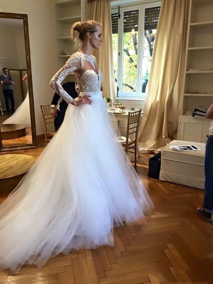 Backless Vestido De Noiva 2019 Muslim Wedding Dresses Ball Gown Long Sleeves Tulle Lace Boho Dubai Arabic Wedding Gown Bridal