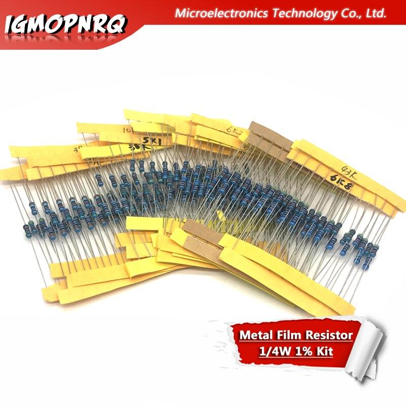 24 значения * 10 шт. 240 шт. 1/4 Вт 0,25 Вт 1% 4,7 к-68 к металлический пленочный резистор набор компонентов «сделай сам» 4,7 к 5,1 к 5,6 к 6,2 к 6,8 к 8,2 к 10 к 12 к и т....