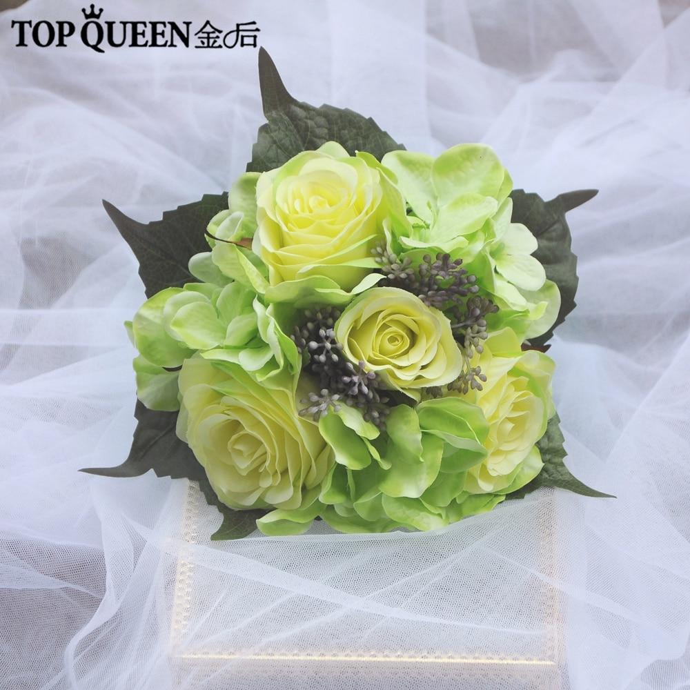 TOPQUEEN F26 Artificial Flower Wedding Bouquet Yellow Bouquet Wedding Bouquet Yellow Bouquet Accessories Braidsmaid Flower