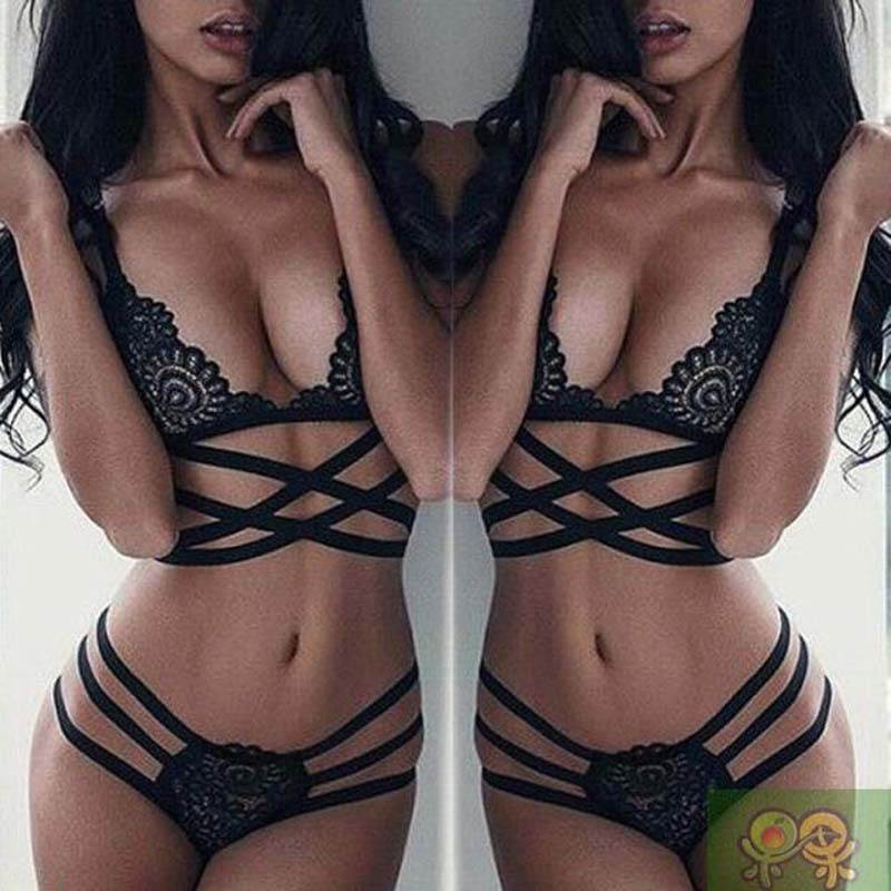 Hot Sexy Women Lingerie New Women lace   bra     set   Push Up Vest Top Straps   Bra   Hollow Out Ladies Panties   Bra     set   Underwear Panty   Set