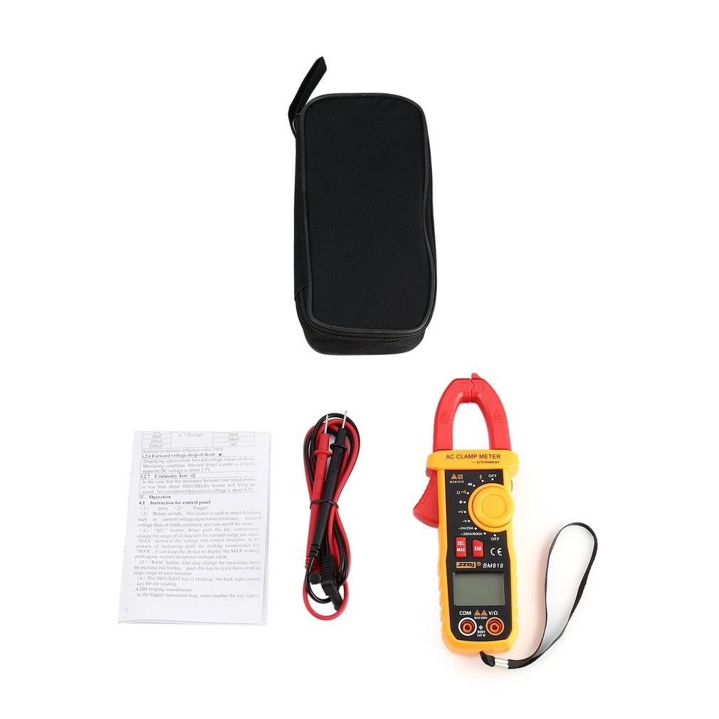 Handheld sem Contato Szbj Digital ac Clamp Meter Multímetro Volt Amp Ohm Capacitância Tester Amperímetro Ncv Diode Bm818 dc – Mod. 168517