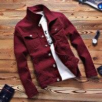 New Mens Denim Baseball Jacket Coat Male Outwear Jeans Jacket and Coats Fashion Design Spring Autumn Clothing