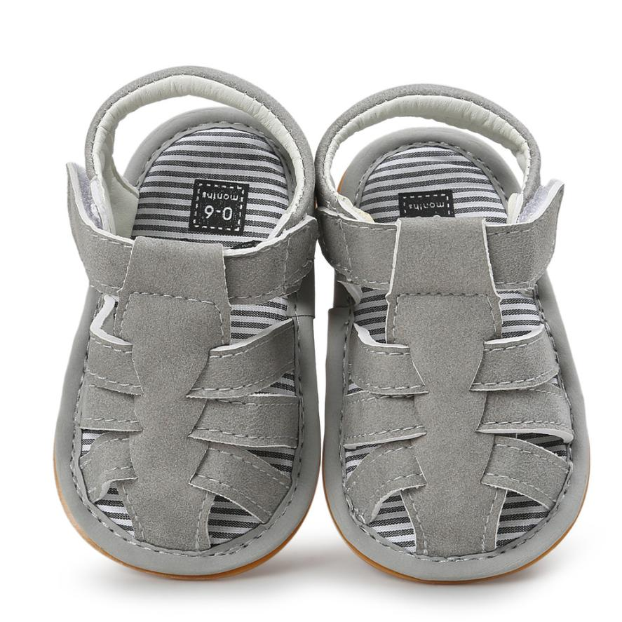 2017 Fashion Baby Boy Sandal Shoes Casual Summer Shoes For Boy Rubber Sole Shoes D50