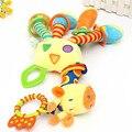 Baby Gift Quality Unisex Toys Cute Kids Soft Giraffe Plush Baby Animal Model Handbells Rattle Handle Developmental Stuffed