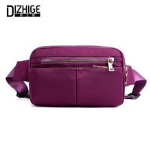 DIZHIGE Brand Fashion Waterproof Oxford Women Bag High Quality Waist Pack Solid Multi-pocket Female Sport Chest Packs New