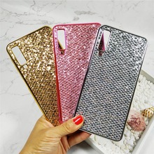 Case For Samsung Galaxy A7 2018 A750 Case Electroplated Glitter Fish Scale Soft Silicon Phone Cover For Samsung A30 A50 A70 Case case for samsung galaxy a9 2018 case electroplated glitter fish scale soft silicon phone cover for samsung a9 2018 a920 cases