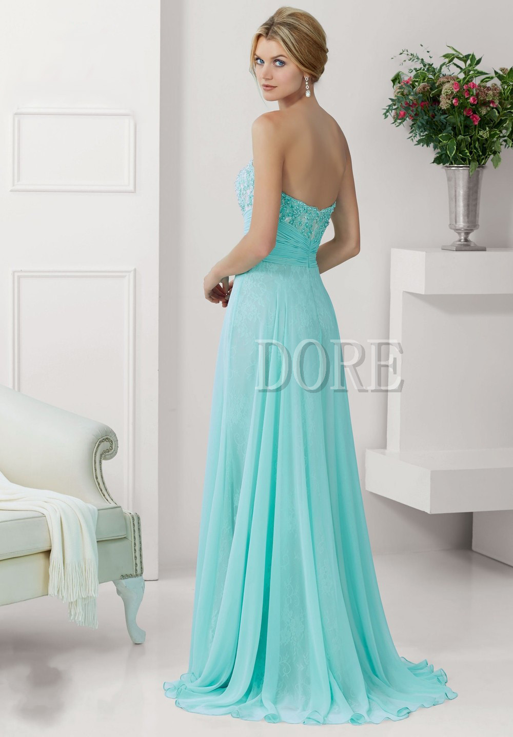 Send free Mode baru Custom Made telanjang belaka dua potong gaun ...
