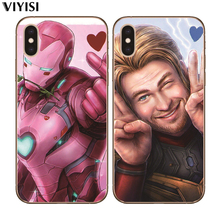 For iPhone 8 7 6 6S Plus X 5 5S SE XR XS Max Spider-Man Loki Coque Etui Fundas Cover Cute Luxury Marvel Avengers Phone Case spider man into the spider verse for funda iphone xs max case cover for case iphone 6s plus 5 5s se 6 7 8 plus xr x cases cover