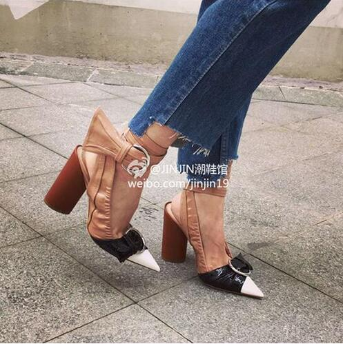 ФОТО Fashion 2016 Pointed Toe High Heels Sandals Ankle Strappy Buckle Brand Women Sandals Celebrity Street Style Summer Shoes Woman