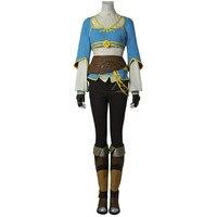 The Legend of Zelda Breath of the Wild Princess Zelda Cosplay Costume Hot Game Halloween Fancy Costume Women