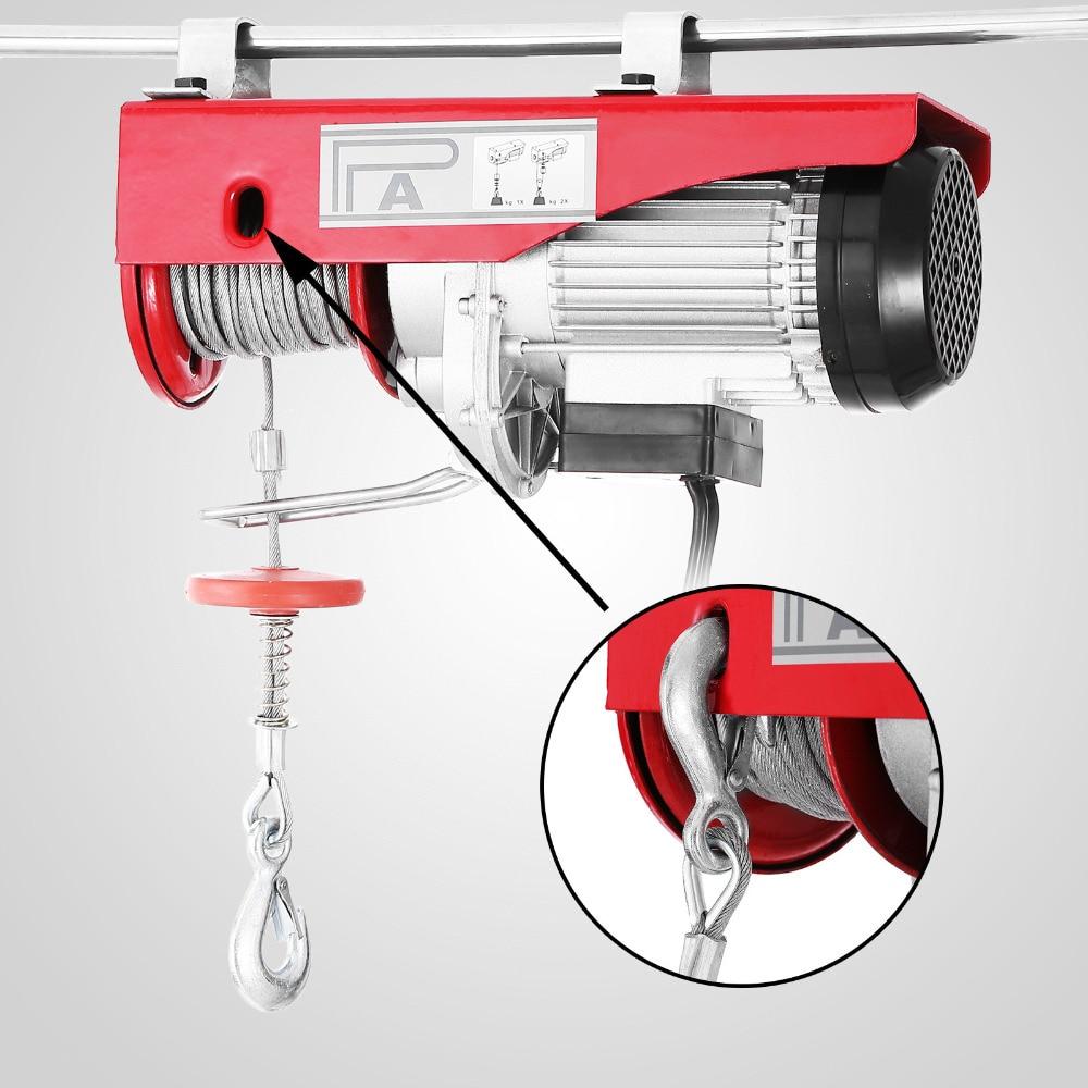 New 880lbs Mini Electric Hoist Crane Overhead Garage Winch Remote Control Auto Lift Lifting Tools & Accessories     - title=