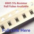 300PCS (0 ohm zu 10 M) ohm SMD Chip Widerstand 0805 10K ohm 5% chip widerstände 0R 1K 2,2 K 3,3 K 4,7 K 4K7 10K 100K 560R Ohm Kit