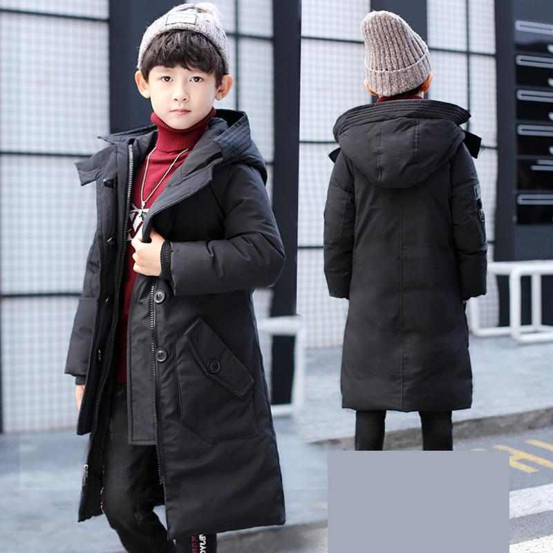 Children's Winter Jackets For Boys Long Style Cotton Padded Children Clothing 2017 Big Boys Warm Coat Thickening Outerwear 13 14 children winter coats jacket baby boys warm outerwear thickening outdoors kids snow proof coat parkas cotton padded clothes