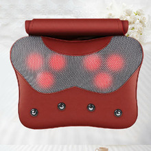 1PCS Free Shipping Electric Massage Pillow Vibrating Massage Pillow with 6PCS Vibrating Massage Head & Far Infrared Heating