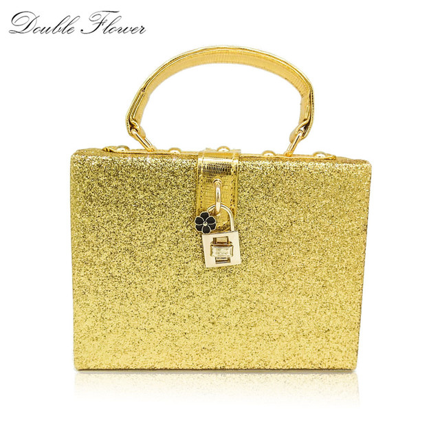 Shiny Gold Glitter Women Fashion Handbag