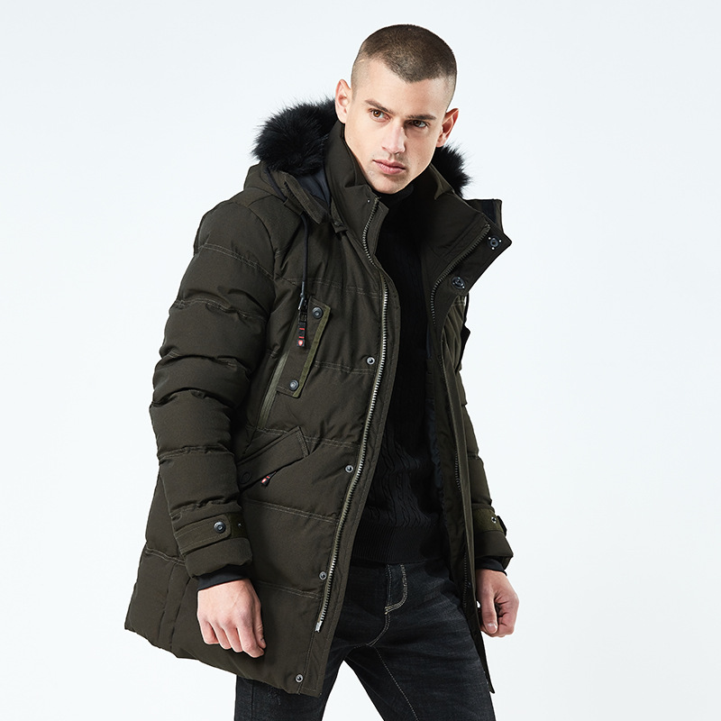 Casual Fashion New 2018 Fit -26'C Thick Warm Winter Jacket Men Overcoats Detachable Hat Coats   Parkas   Clothing