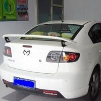 for mazda 3 spoiler 2006 2013 mazda 3 spoiler High Quality ABS Material Car Rear Wing Primer Color for mazda 3