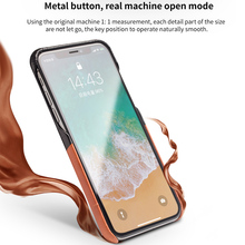 QIALINO Crocodile Skin Genuine Leather Case for iPhone X