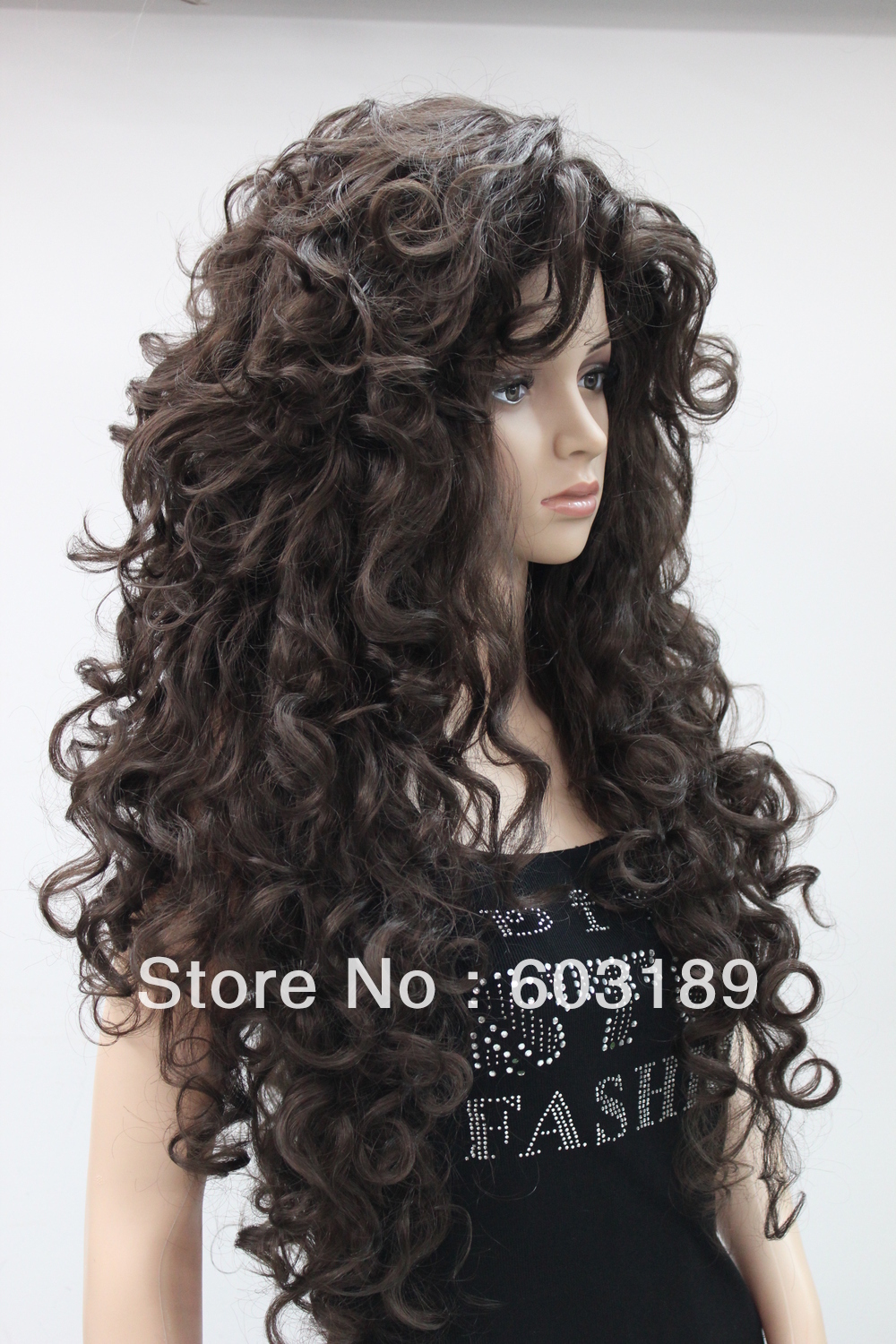 2013 New Fashion Cosplay Dark Brown Long Curly Wig/30 inch Synthetic Hiar Women's Wigs - Hivision wig store
