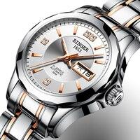 New Binger Watch Women Luxury Brand Japan Automatic Mechanical Movement Wrist Sapphire Waterproof Ladies Watch gold 8051 7